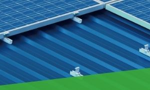 Trapezoidal commercial solar roof panel mounting system UK