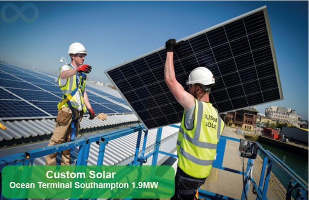 Custom solar trapoziodal mounting kit, UK