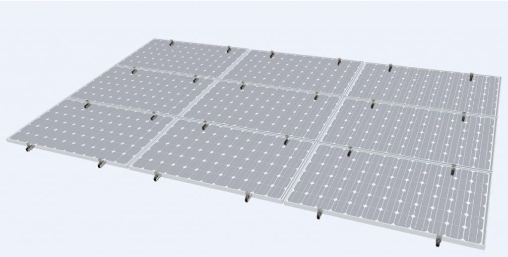 Genesis trapeziodal solar panel roof mounting system, UK
