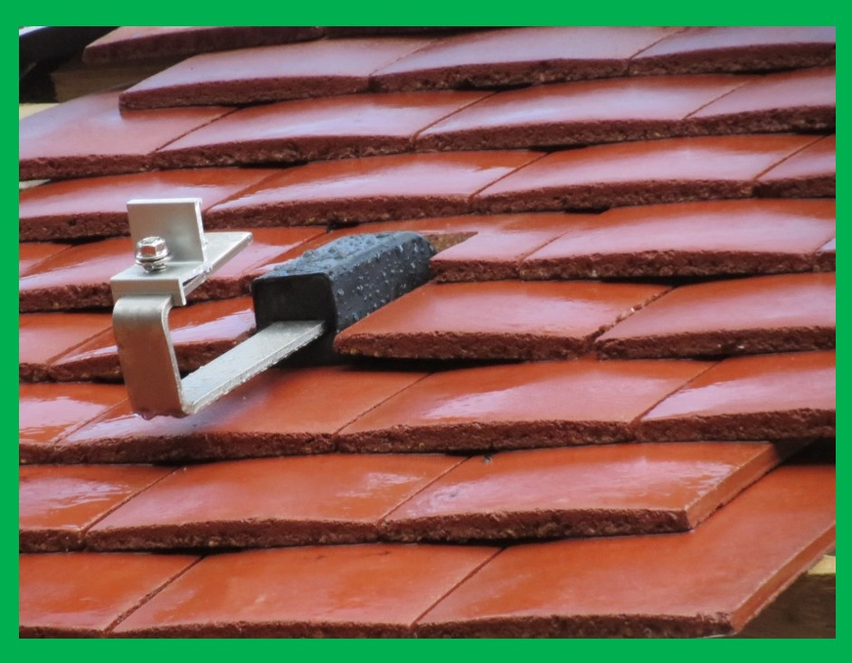 Solar Panel Mounting for residential tile or slate pitched roofs