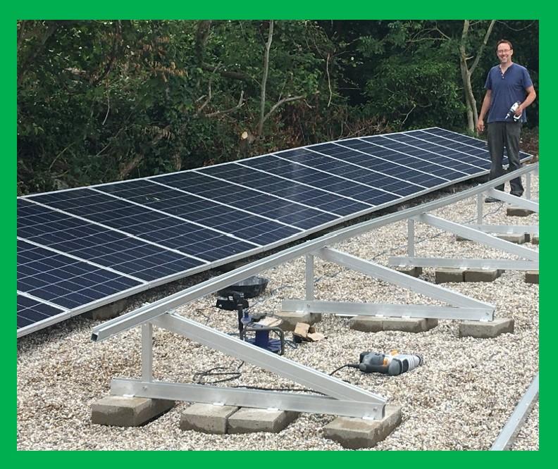 Solar Tripod Solar panel Mounting System from Clenergy, UK